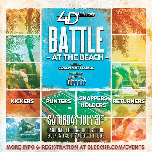 4th Down Univeristy Battle at the Beach
